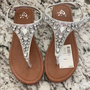 Bejeweled Girls Sandals
